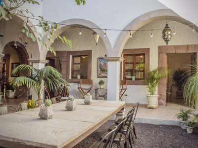 Photo for Spectacular Colonial House for 13 - Huge Terrace, 3 Blocks away to the Parroquia