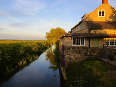 Photo for Riverbank location with views across the somerset levels to the mendip hills.