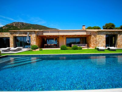 Photo for Exceptional Sea View with Pool, 300m from Palombaggia Beach, private access