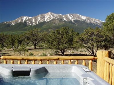 Mt. Princeton from the luxurious hot tub.