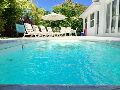 Photo for Ocean Breeze Home 5Bdr/3Bath for 12 guests - HEATED POOL - 5 Minutes to Beach