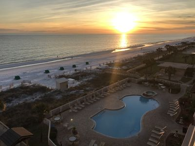 Photo for BEACHFRONT 5TH Floor 2 BEDROOM STEPS AWAY FROM THE WHITE SANDS OF CRYSTAL BEACH