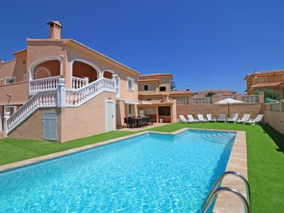 Photo for 8 bedroom Villa, sleeps 17 with Pool, Air Con, WiFi and Walk to Beach & Shops