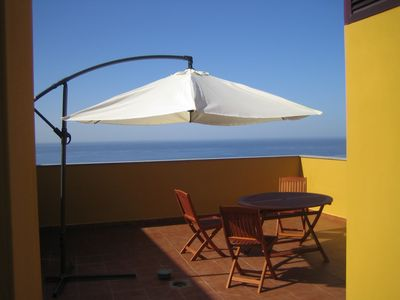 Photo for Penthouse 'Vista' 94sqm private terrace, pool, dream sea view u. mountains