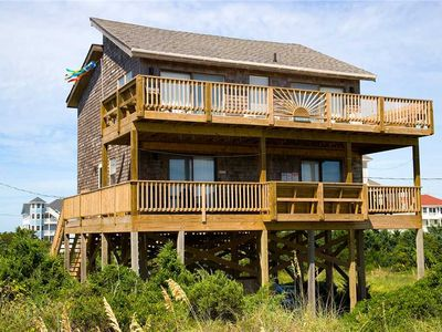 Photo for Oceanfront Avon w/Direct Beach Access! HotTub w/Waterfall, CmtyPool, DogFriendly