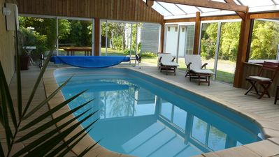 Photo for House with indoor pool and sauna, in Brittany, 10 people