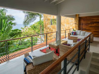 Photo for Colorful Mexican ocean view casita  with a private pool - San Pancho