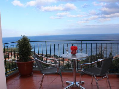 Photo for Apartment with large terrace with spectacular sea and mountain views