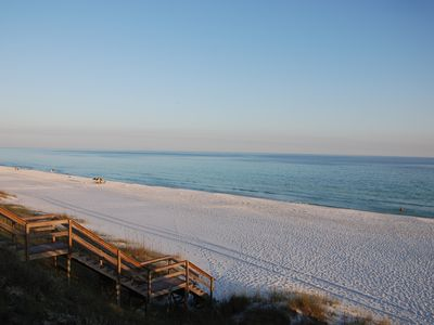Photo for Beautiful Townhouse - Beach Side of 30A, PRIVATE Beach Access and a POOL VIEW