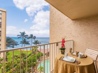 Photo for Great Fall Rates!  Ocean View w/ AC + King bed + Free Parking & WiFi = Royal Kahana 616