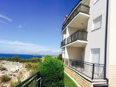 Photo for One bedroom apartment with terrace and sea view Primošten (A-17252-b)