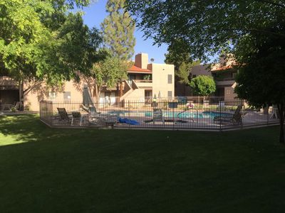 court yard and pool area
