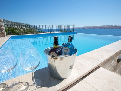 Photo for Apartment Matea with pool - breathtaking sea views from the pool