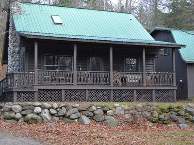 Photo for Quaint Harbor Springs Log Home With Lake Michigan Beach Access