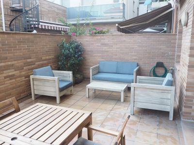 Photo for Apartment with fantastic terrace. 5 minutes from the beach.