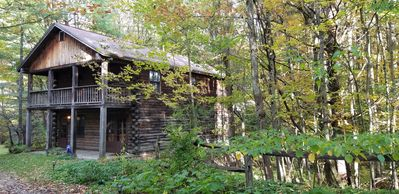 Photo for NEW LISTING! Cozy Log Cabin, Close to Activities and Private, Nature is best RX!