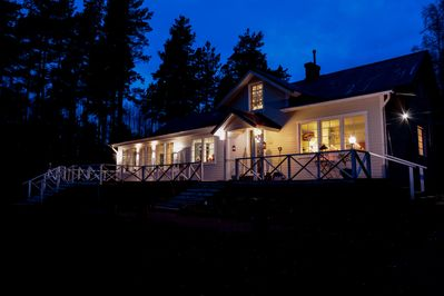 Main house in the evening