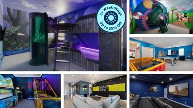Photo for Wonder World w Private Pool, 10 BR's, Movie Theater & Kids Themed Bedrooms