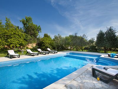 Photo for 4 bedroom Villa, sleeps 8 in Pinezići with Pool, Air Con and WiFi