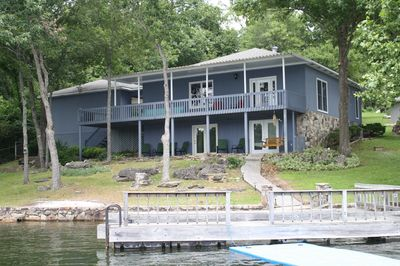 taken from boat, this is the back of house