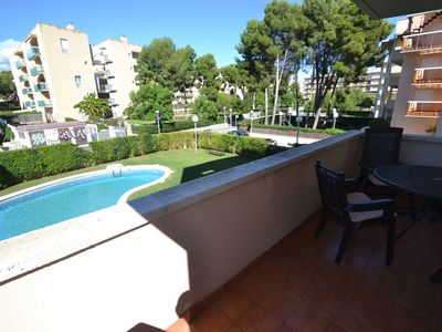 Photo for Montserrada 3:450m beach- Sw Pool- Free Wifi,AAC,linen and parking- Quiet near centre La Pineda