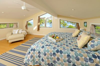 Top Bedroom #3 with Beach, Ocean & Mountain Views