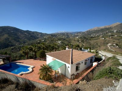Photo for Idyllic villa with private solar heated pool and views to die for!