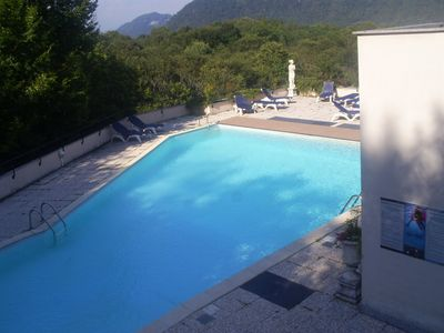 Photo for APARTMENT IN RESIDENCE WITH POOL ON LAKE LUGANO!