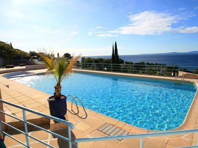 Photo for Bastidon for 5 people panoramic sea view, residence with swimming pool