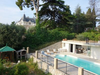 Photo for Villa-Apt 2 bedroom With Private Heated Pool on Nice's hills