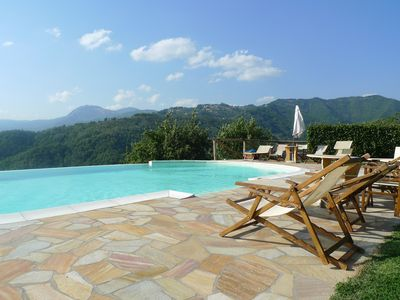 Photo for Newly renovated barn with beautiful infinity pool and garden, walk to restaurant