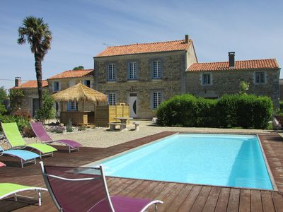 Photo for Cottage 5 people with heated pool near Royan