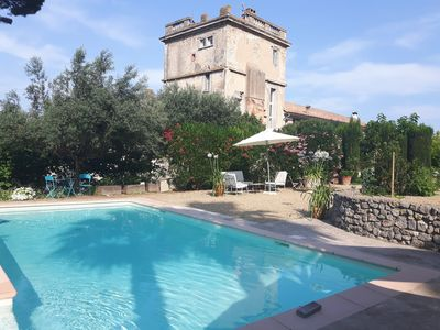 Photo for 5m from the Canal du Midi - Castle tower 17 th S