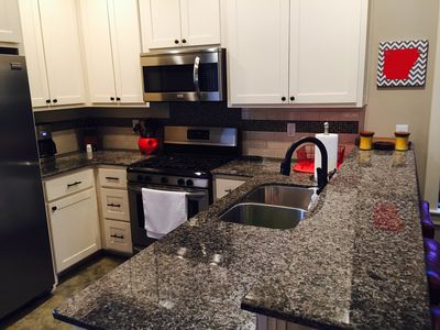 All new appliances and granite counters in the kitchen