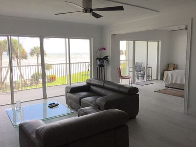 Photo for Renovated modern condo on the beach with spectacular view TWO MONTH MINIMUM