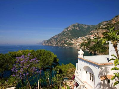 Photo for Spectacular Cliff top villa in Positano