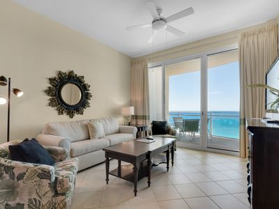 Photo for 2B/2 Bath with Bonus Room Master Bedroom and Living Room Face the Gulf!