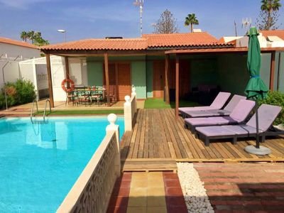 Photo for Villa Playa del Inglés 5 minutes from the beach - SALES AND CLIMATIZED SWIMMING POOL