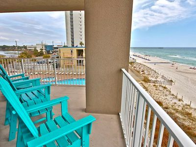 Photo for Upscale Gulf front condo w/two lagoon pools, movie center, hot tub, and sauna