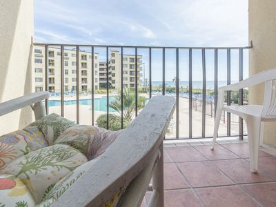 Photo for Sit on your balcony and enjoy the views of ocean & main pool from this condo!
