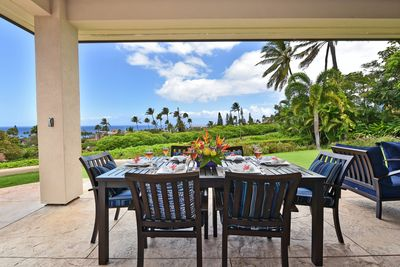 Enjoy dining with oceanviews on the lanai