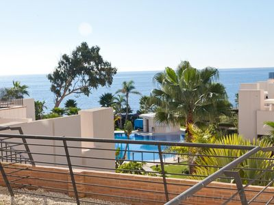 Photo for Fantastic modern beach apartment with indoor pool, New Modern beach front apartment in Estepona