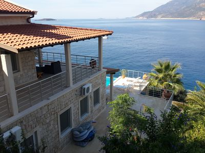 Photo for Waterfront luxurious  detached villa with private pool and private sea platform