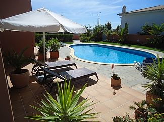 Large sunny terrace with direct access to the pool