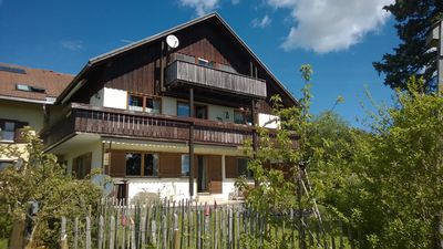 Photo for Apartment with large terrace and garden area - free mountain view