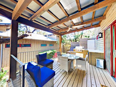 Patio - The patio area offers the perfect blend of sun and shade.