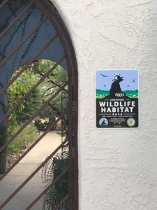Proudly displaying the Certification as a Wildlife Habitat.