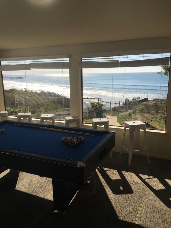 Ocean View Game Room With Pool Table
