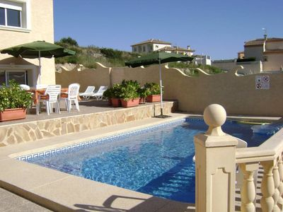 Photo for Calpe: Ideal villa for 2 families. Maximum 10 people. Ceiling fans, air conditioning, private pool and barbecue. WIFI service.