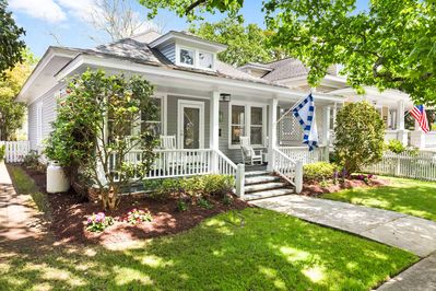Charming Craftsman cottage one block from the waterfront